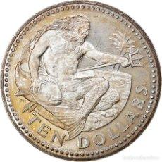 Monedas antiguas de América: MONEDA, BARBADOS, 10 DOLLARS, 1979, FRANKLIN MINT, MBC+, PLATA, KM:17A. Lote 254681040