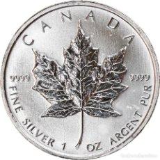Monedas antiguas de América: MONEDA, CANADÁ, ELIZABETH II, MAPLE LEAF, 5 DOLLARS, 2011, 1 OZ, SC, PLATA. Lote 254684885