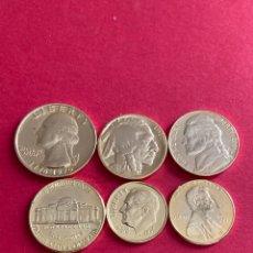 Monedas antiguas de América: EE UU LOTE VARIADO DE MONEDAS CON BAÑO DE ORO 24 KGS.. Lote 255512355