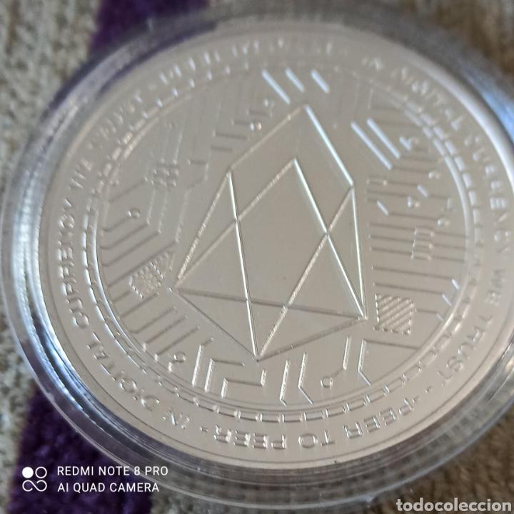 """Monedas antiguas de América: PRECIOSA MONEDA ONZA DE PLATA DE LA COLECCIÓN BITCOIN """"EOS"""" PLATA 1OZ - Foto 3 - 256085095"""