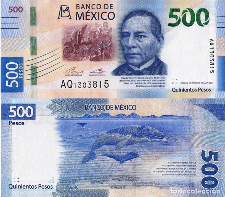 MEXICO 500 PESOS, 19/05/2017, P-NEW, , NEW SIGNATURES, UNC (Numismática - Extranjeras - América)