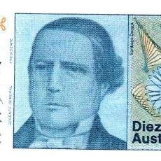 Monedas antiguas de América: BILLETE DE ARGENTINA DE 10 AUSTRALES EN PERFECTO ESTADO. Lote 257386305