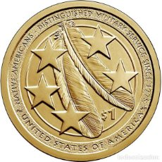 Monedas antiguas de América: ESTADOS UNIDOS / USA 1 DOLAR 2021 AMERICAN NATIVE NATIVOS EN LAS FUERZAS ARMADAS D. Lote 257390780