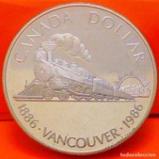 Monedas antiguas de América: CANADÁ, DOLLAR, 1986. PLATA PROOF. (1014). Lote 257555900