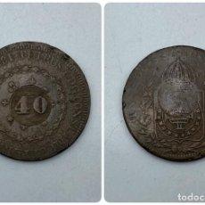 Monedas antiguas de América: MONEDA. BRASIL. 40 REIS. 1830. VER FOTOS. Lote 257609530