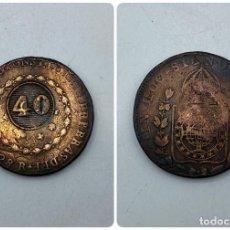 Monedas antiguas de América: MONEDA. BRASIL. 40 REIS. 1828. VER FOTOS. Lote 257609925