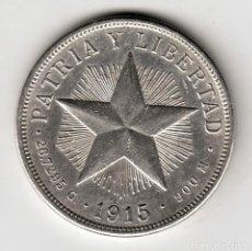 Monete antiche di America: CUBA 1 PESO PLATA 1915 PATRIA Y LIBERTAD. Lote 257772165