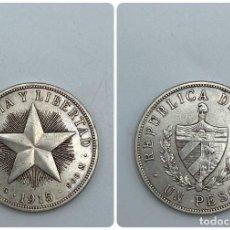 Monedas antiguas de América: MONEDA. CUBA. REPUBLICA DE CUBA. UN PESO. 1915. VER FOTOS. Lote 257789555