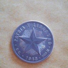 Monedas antiguas de América: MONEDA 20 CENTAVOS CUBA 1948 PLATA. Lote 257878525