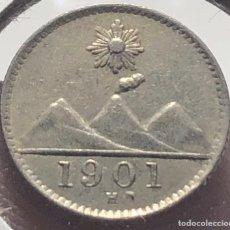Monedas antiguas de América: GUATEMALA KM175. 1/2 REAL 1901 H NIQUEL. Lote 257914350