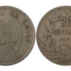 Monedas antiguas de América: REPUBLICA DE CHILE 20 CENTAVOS 1924, PLATA. Lote 257972780
