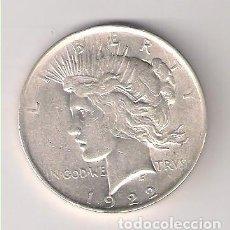 Monedas antiguas de América: MONEDA DE 1 DÓLAR (LIBERTY) DE ESTADOS UNIDOS DE 1922. PLATA. MBC+ WORLD COIN-KM#150. (ME640). Lote 261108120