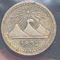 Monedas antiguas de América: GUATEMALA KM151. 1/4 REAL 1882 SILVER RARE PLATA. Lote 261308055