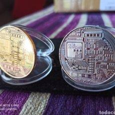 Monedas antiguas de América: LOTE ORO Y PLATA, 2 BITCOIN DE MONERO 2013 DE COLECCIÓN.. Lote 261345970