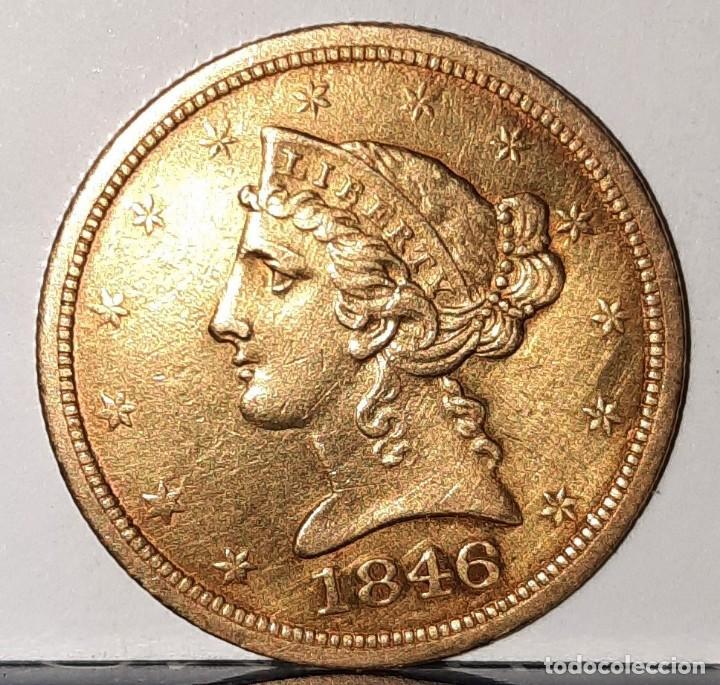 UNITED STATES OF AMERICA - FIVE DOLLAR - MONEDA, ORO 18 QUILATES (Numismática - Extranjeras - América)