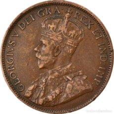 Monedas antiguas de América: MONEDA, CANADÁ, GEORGE V, CENT, 1917, ROYAL CANADIAN MINT, OTTAWA, MBC, BRONCE. Lote 261553425