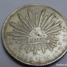 Monedas antiguas de América: 8 REALES DE PLATA . MEXICO 1892 RESELLADA. Lote 261553760