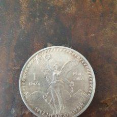 Monedas antiguas de América: UNA ONZA DE PLATA PURA 1992 MEXICO LEY 999. Lote 261976895