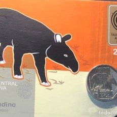 Monedas antiguas de América: PERU 1 SOL 2017 UNC TAPIR ANDINO FOLDER. Lote 261995605
