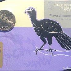 Monedas antiguas de América: PERU 1 SOL 2017 UNC PAVA ALIBLANCA FOLDER. Lote 261995910