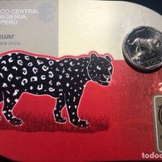 Monedas antiguas de América: PERU 1 SOL 2017 UNC JAGUAR FOLDER. Lote 261996180