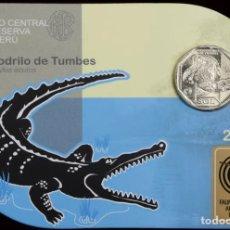 Monedas antiguas de América: PERU 1 SOL 2017 UNC COCODRILO DE TUMBES FOLDER. Lote 261997640