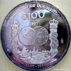 Monedas antiguas de América: MÉXICO, 100 PESOS 1991 (KM#540)./ 27 GR, PLATA DE 0,925 MM. (VER DESCRIPCIÓN Y FOTOS).. Lote 262001375