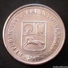 Monedas antiguas de América: MONEDA DE 50 CENTIMOS VENEZUELA AÑO 2007. Lote 262020020