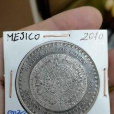 Monedas antiguas de América: MEXICO 2010 1 0Z PLATA PURA- PIEDRA DE LOS SOLES. Lote 262096820