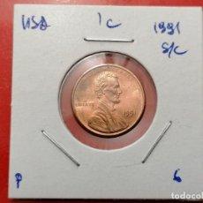 Monedas antiguas de América: 1 CÉNTIMO ESTADOS UNIDAS, 1991. Lote 262594725