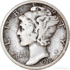Monedas antiguas de América: MONEDA, ESTADOS UNIDOS, MERCURY DIME, DIME, 1926, U.S. MINT, PHILADELPHIA, BC+. Lote 262726785