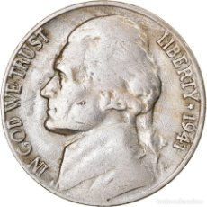 Monedas antiguas de América: MONEDA, ESTADOS UNIDOS, JEFFERSON NICKEL, 5 CENTS, 1941, U.S. MINT, SAN. Lote 262726910