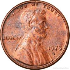 Monedas antiguas de América: MONEDA, ESTADOS UNIDOS, LINCOLN CENT, CENT, 1975, U.S. MINT, DENVER, MBC+. Lote 262729965