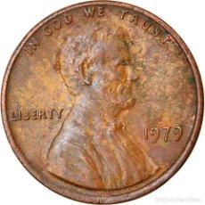 Monedas antiguas de América: MONEDA, ESTADOS UNIDOS, LINCOLN CENT, CENT, 1979, U.S. MINT, PHILADELPHIA, BC+. Lote 262730255