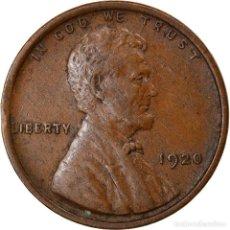 Monedas antiguas de América: MONEDA, ESTADOS UNIDOS, LINCOLN CENT, CENT, 1920, U.S. MINT, PHILADELPHIA, MBC. Lote 262731125
