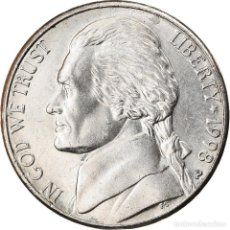 Monedas antiguas de América: MONEDA, ESTADOS UNIDOS, JEFFERSON NICKEL, 5 CENTS, 1998, U.S. MINT. Lote 262732015