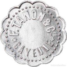 Monedas antiguas de América: JETÓN, GUAYANA FRANCESA, CAYENNE, F. TANON ET CIE, 10 CENTIMES, C. 1928, EBC. Lote 262732275