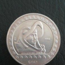 Monedas antiguas de América: ANTIGUA MONEDA 50 DOLLARS 1992 MÉXICO 1/2 ONZA PLATA 999. Lote 262747690