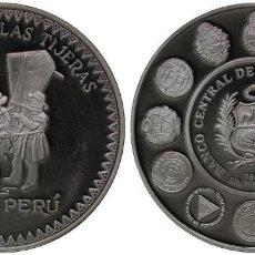 Moedas antigas da América: PERU 1 NUEVO SOL 1997 PLATA DANZA DE LAS TIJERAS. Lote 263107710