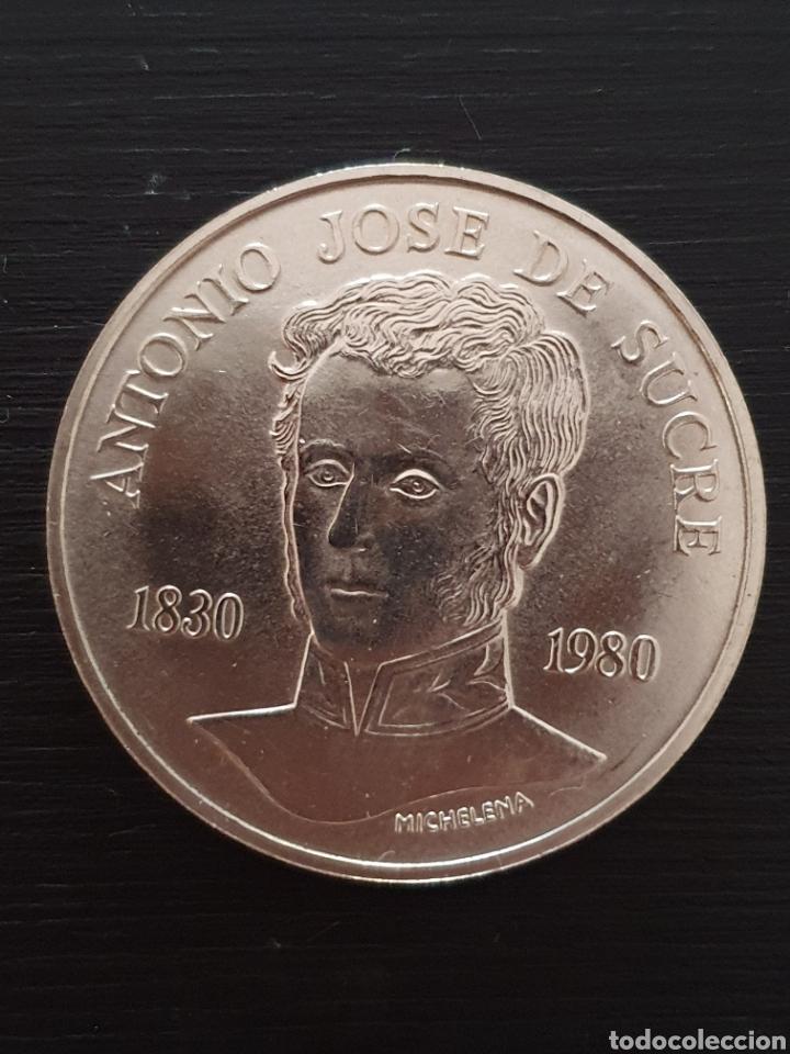 MONEDA CONMERATIVA DE LOS 150 AÑOS DE LA MUERTE DE SUCRE. ENVÍO CERTIFICADO SOLAMENTE. 6€ (Numismática - Extranjeras - América)