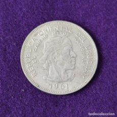 Monedas antiguas de América: MONEDA DE URUGUAY. 10 PESOS GAUCHO. PLATA 900. CASI SIN CIRCULAR.. Lote 263286115