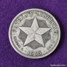 Monedas antiguas de América: MONEDA DE CUBA. 1 PESO. 1915. PLATA 900. PATRIA Y LIBERTAD.. Lote 263289000