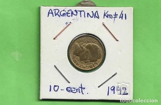ARGENTINA 10 CENTAVOS 1942. BRONCE CON ALUMINIO. KM#41 (Numismática - Extranjeras - América)