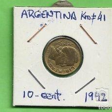 Monedas antiguas de América: ARGENTINA 10 CENTAVOS 1942. BRONCE CON ALUMINIO. KM#41. Lote 263600400