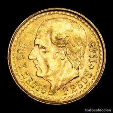 Monedas antiguas de América: MÉXICO - 2,5 PESOS 1945 HIDALGO ESTADOS UNIDOS MEXICANOS ORO (B15). Lote 263722475