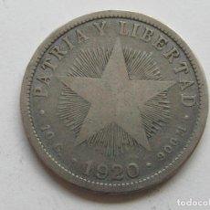 Monedas antiguas de América: CUBA , 40 CENTAVOS DE PESO DE 1920 . PLATA. Lote 263731485