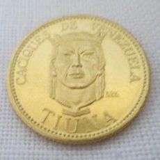 Monedas antiguas de América: MONEDA DE 6 GRAMOS DE ORO LEY 900 CACIQUES DE VENEZUELA TIUNA ACUÑADA EN EL SIGLO XVI. Lote 263742030