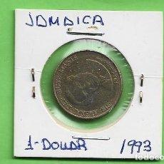 Monedas antiguas de América: JAMAICA. 1 DOLLAR 1993. ACERO BAÑADO EN LATÓN. KM#145.A. Lote 263746605