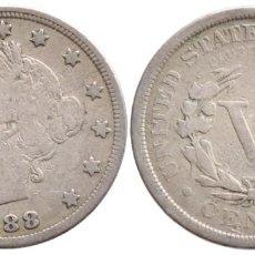 Monedas antiguas de América: ESTADOS UNIDOS 5 CENTAVOS 1888. Lote 263755020