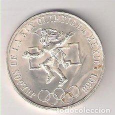 Moedas antigas da América: MONEDA DE 25 PESOS DE MÉJICO DE 1968. PLATA. MBC. (ME803) (2). Lote 265225954